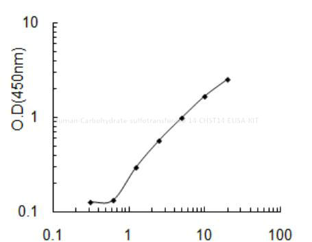 Human Carbohydrate sulfotransferase 14, CHST14 ELISA KIT